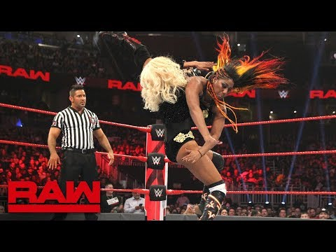 Apollo Crews & Ember Moon vs. Jinder Mahal & Alicia Fox: Raw, Jan. 7, 2019