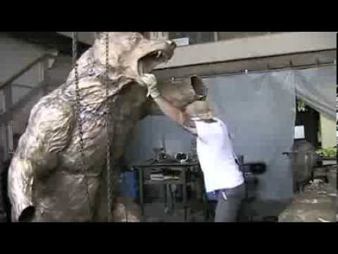HARRY WEBER'S BEAR & BULL SCULPTURE