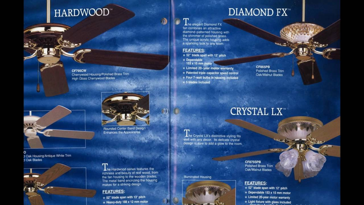 Emerson Ceiling Fan Catalog From 1998 Youtube