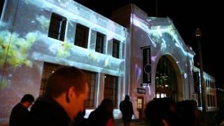 Exploratorium opening night projections