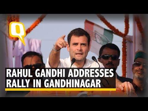 Rahul Gandhi Speech LIVE: After Priyanka Gandhi, Congress Chief Addresses a Rally in Gandhinagar