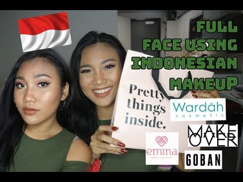 FULL FACE USING MAKEUP INDONESIA | First Impression, Haul, Review, Chitchat