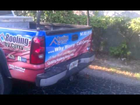 New Truck Wrap Roofing By Curry Sarasota Bradenton Venice