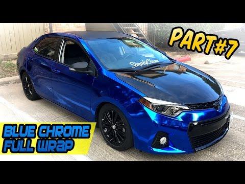 Front Bumper Blue Chrome Full Wrap Part 7 Toyota