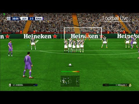 PES 2017 | Juventus VS Real Madrid | C.Ronaldo Free Kick Goal | UEFA Champions League [UCL]
