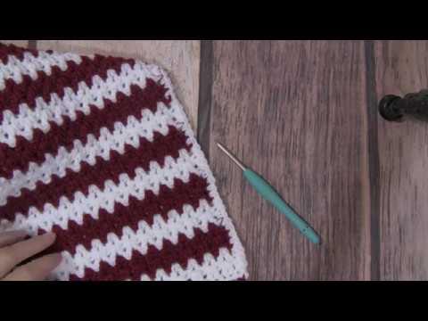 V Stitch Double Crochet Stitch Tutorial