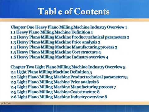 Bharat Book Presents : 2013 Deep Research Report on China Plano Milling Machine Industr