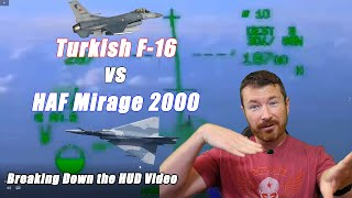 Turkish F-16 vs Hellenic Mirage 2000 Dogfight Video Analysis