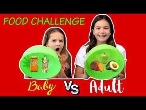 BABY FOOD VS ADULT FOOD CHALLENGE | SISTER FOREVER