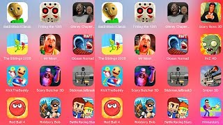 Plants vs Zombies,Kick The Buddy,Scary Butcher,Stickman Jailbreak 3,Sniper 3D,Red Ball 4