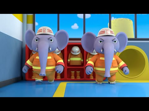 Elephant Firefighter Rescue Team  Nursery Rhymes  Kids Songs  Kids Role Play  BabyBus