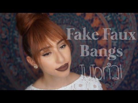 How to Fake Faux Bangs/Hair Tutorial