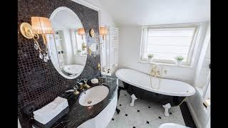 Черно-белая плитка для ванной в викторианском стиле