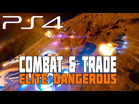 Elite Dangerous - Combat Running and Getting My First Trade Ship - PS4