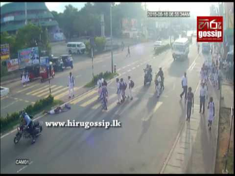 Accident In Kuliyapitiya CCTV