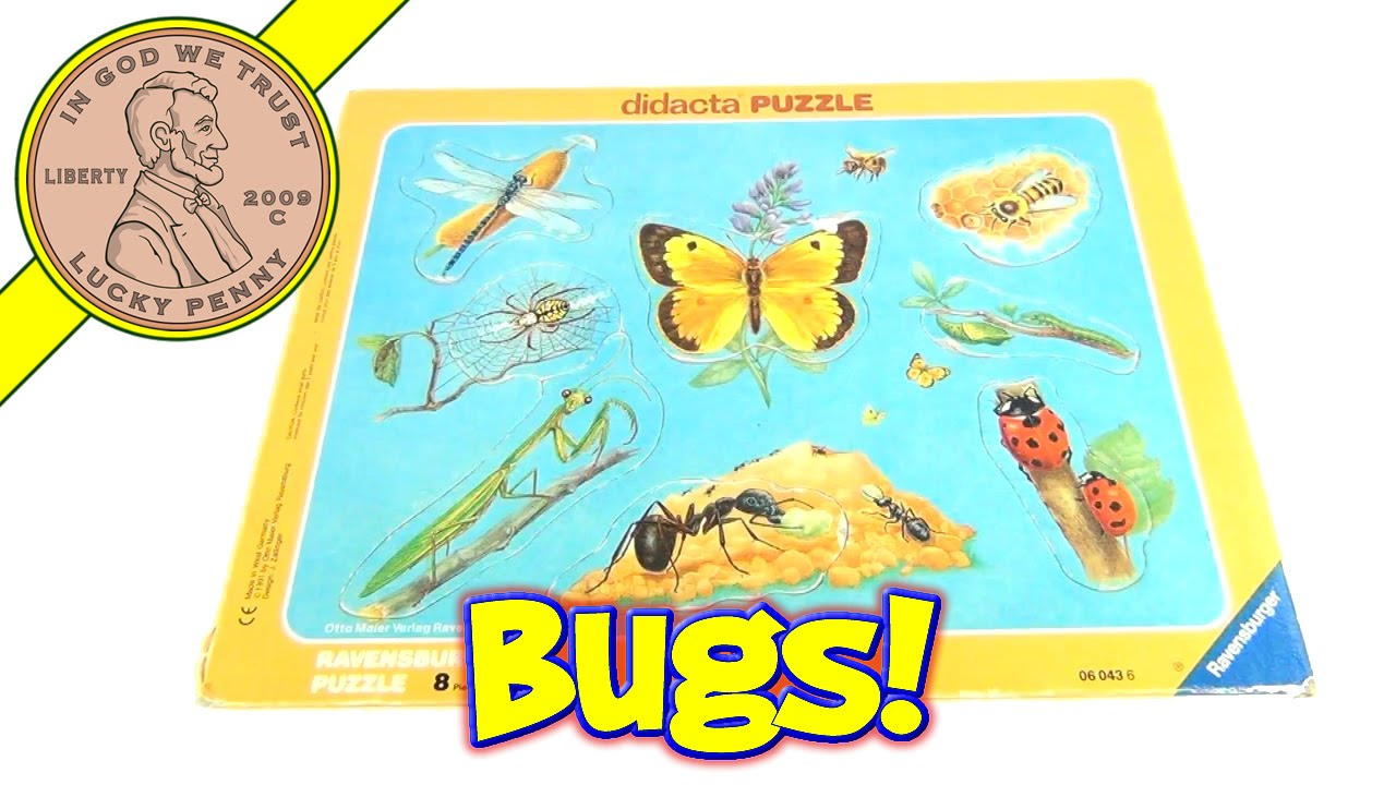 Insects & Bugs Didacta Frame Tray Puzzle# 060436 1991 Ravensburger Puzzle