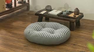 대형 원형 방석 쿠션 침실 거실 패브릭 소품 인테리어