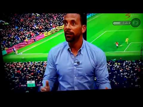 Rio Ferdinand Reaction to Manchester United Goal