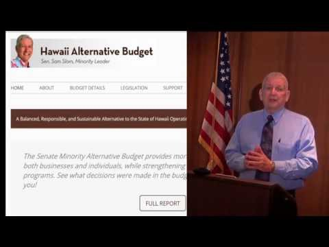 Senator Slom introduces Hawaii Senate Minority