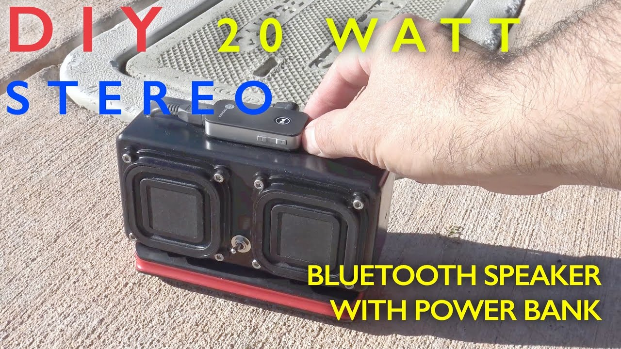diy 20 watt bluetooth speaker power bank youtube. Black Bedroom Furniture Sets. Home Design Ideas