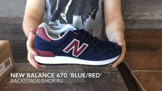 New Balance 670 'Blue/Red'
