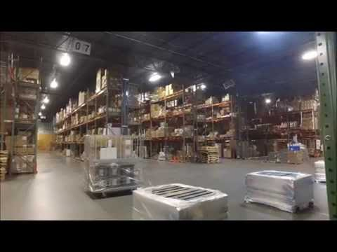 Warehouse Drone Scanning Center Pallets