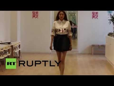 China: Meet the model with China's longest legs!