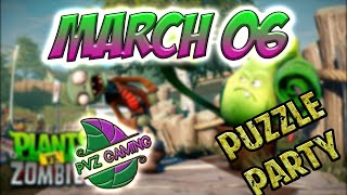 PvZ Heroes: Daily Challenge 03/06/2019 March 06 - Puzzle Party [March 06th]