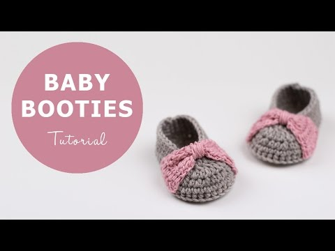 How To Crochet Baby Booties | Croby Patterns