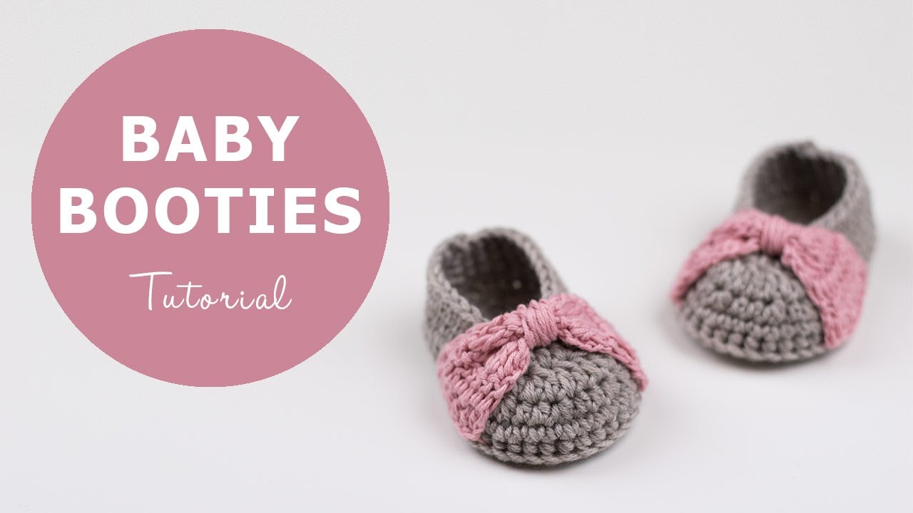 How To Crochet Baby Booties Croby Patterns Youtube