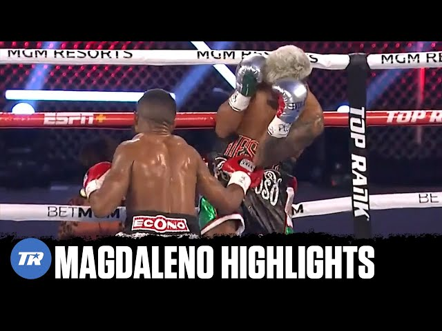 Magdaleno knocks down Vicente twice, gets low blowed 3 times, still wins | FULL FIGHT HIGHLIGHTS
