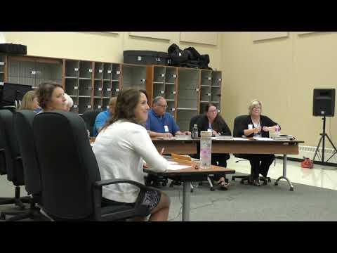 Regular School Board Meeting: August 2018
