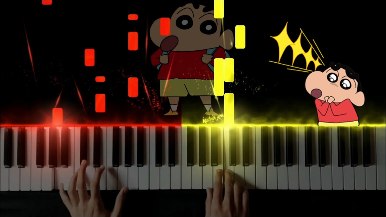 Download This Reminds You Of Your Childhood   Shinchan Family Theme Music - Piano Cover