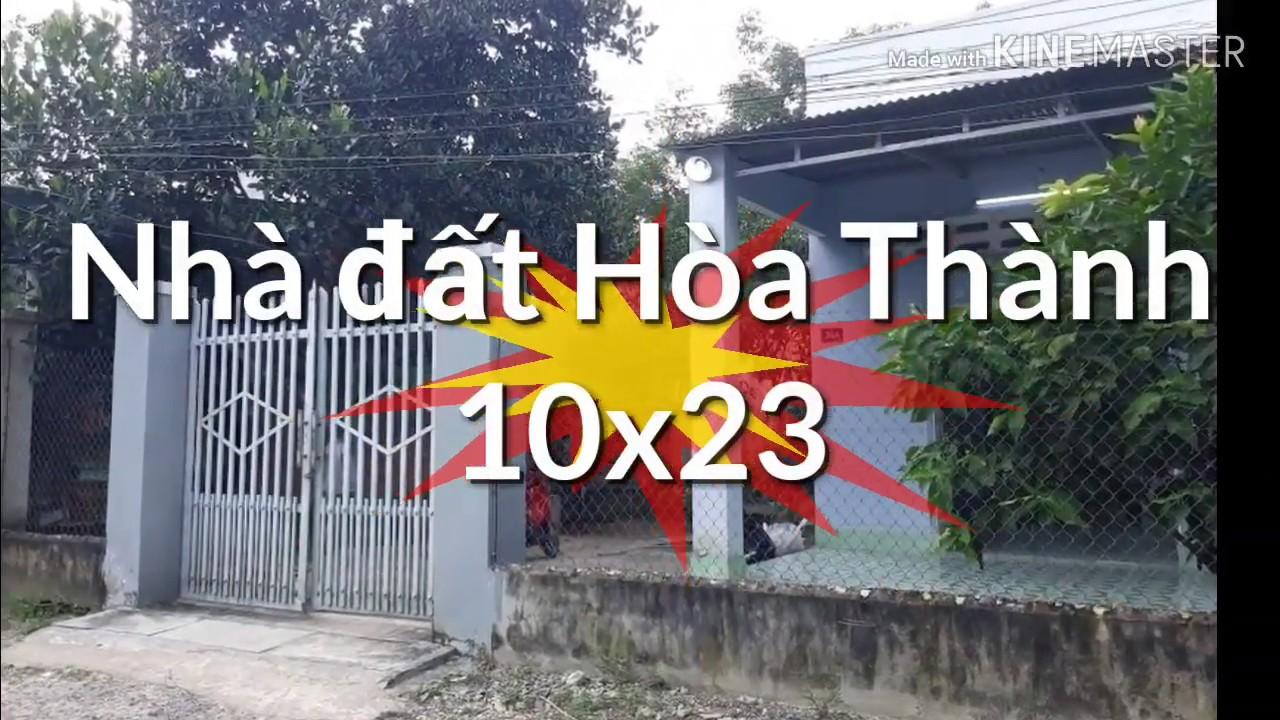 Bán nhà đất Trường Tây, Hòa Thành, Tây Ninh 10×23 chỉ 100tr mét ngang