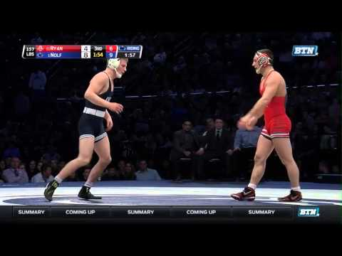Ohio State Buckeyes at Penn State Nittany Lions Wrestling: 157 Pounds -  Ryan vs. Nolf