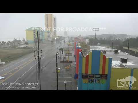 10 10 18 panama city beach, fl Hurricane Michael Close Range Power Arcing And Damage.mp4