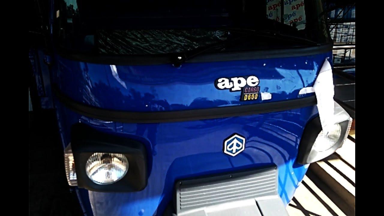 Piaggio Ape Xtra D600 Cargo Complete Review Including Engine