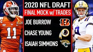 Final Full First Round 2020 NFL Mock Draft WITH TRADES!
