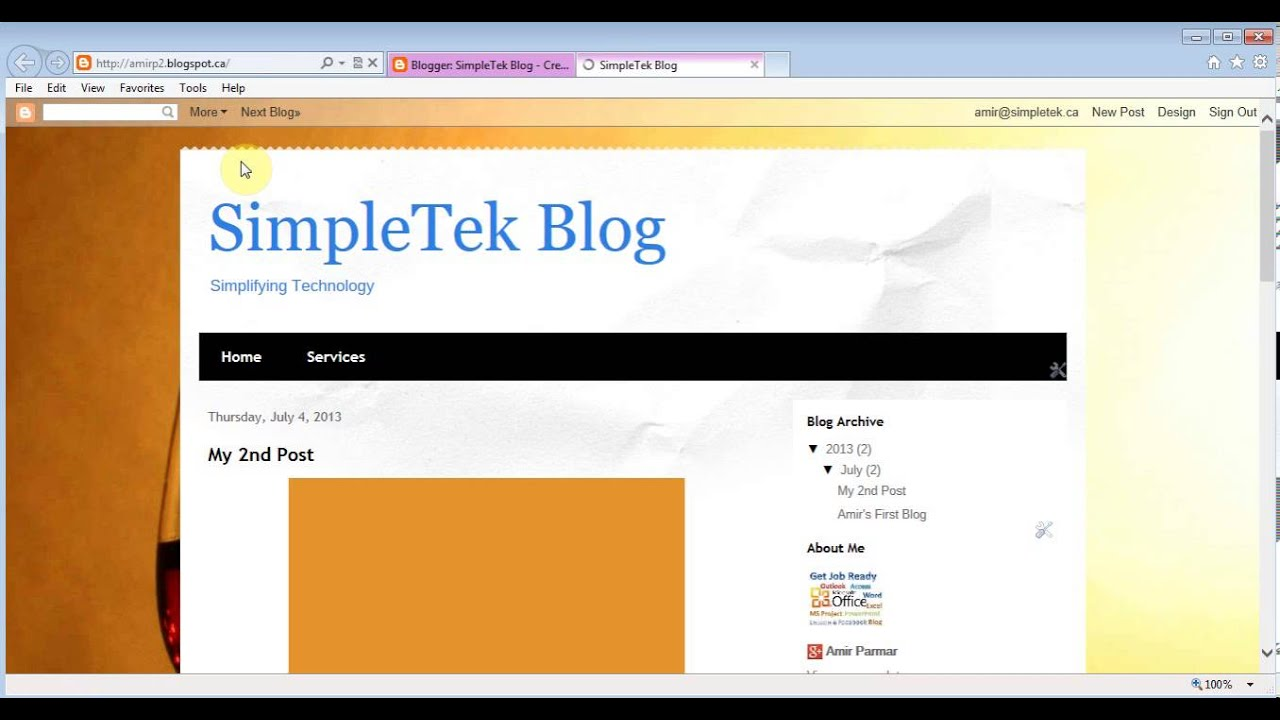 Blogger - Create free Website/Blog with Ad revenue - YouTube