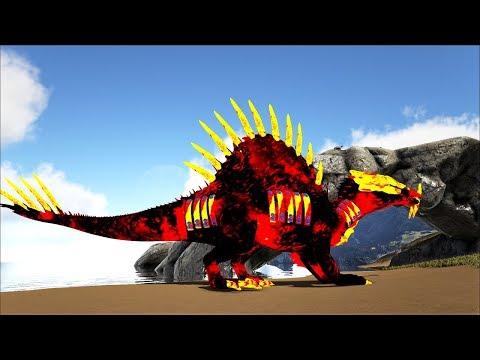 ARK SURVIVAL RAGNAROK Tập 10: Siêu boss Spino nham thạch(Spinosaur Lava)