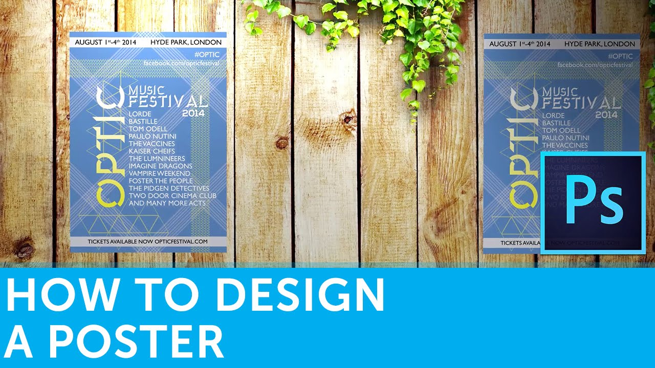 Poster design using photoshop - How To Design A Poster In Adobe Photoshop Solopress Tutorial Youtube