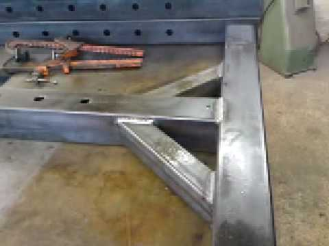 Mig Welding Mild Steel Post Supports Youtube