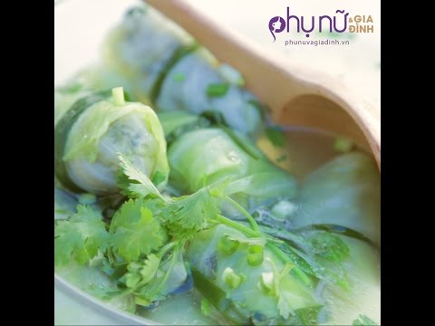 Canh bắp cải cuộn thịt | Phunuvagiadinh.vn