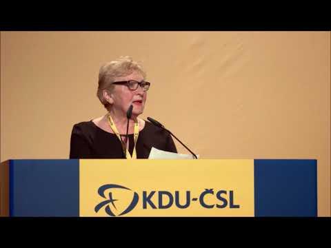 Sjezd KDU-ČSL 2017 v Praze, projev Lidmily Němcové, místopředsedkyně Evropské seniorské unie
