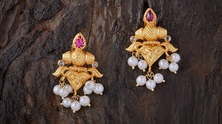Light Weight Gold Earrings Designs For Regular Use