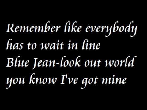 David Bowie Blue Jean lyrics