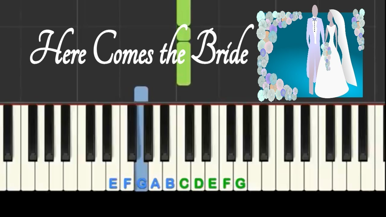 Here Comes The Bride Bridal Chorus Easy Piano Tutorial With Free Sheet Music Youtube