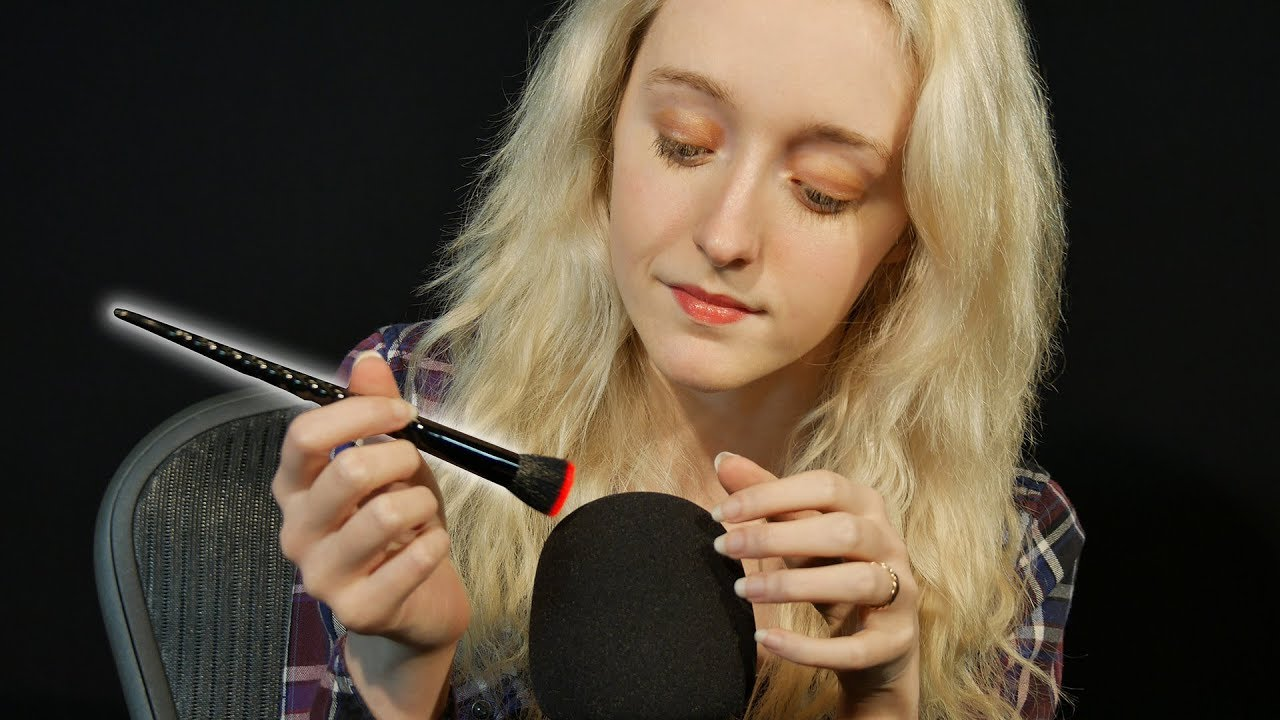 ASMR  Microphone Brushing & Scratching (No Talking)