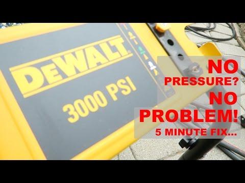 Dewalt Power Washer Repair, No Pressure? No Problem - 5 minute fix!