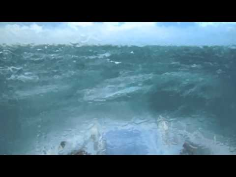 Rough seas  crossing the Cook Strait